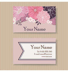 Business card violet vector