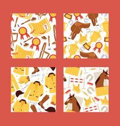 cartoon jokey seamless pattern vector image