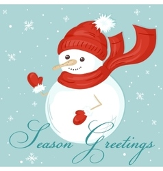 christmas card with cute vector image