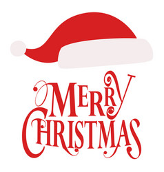 Christmas santa hat image vector