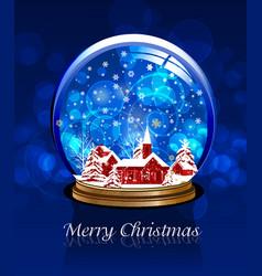 Christmas snow globe vector