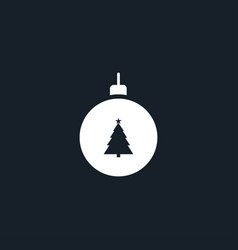 christmas tree toy icon simple vector image