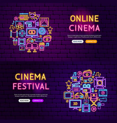 cinema website banners vector image