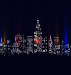 city colourful vector image
