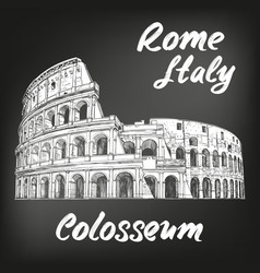 colosseum an ancient amphitheatre an vector image