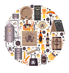 craft beer making and selling organic alcoholic vector image