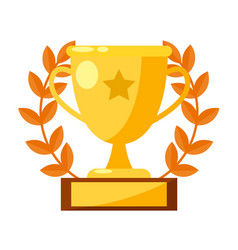 cup of the sports winner vector image