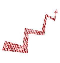 Curve arrow fabric textured icon vector