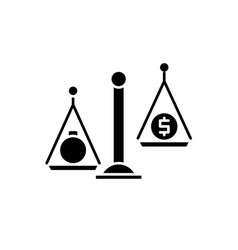 debentures black icon sign on isolated vector image