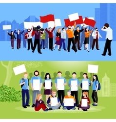 Demonstration Protest People Compositions vector