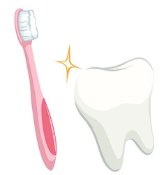 Dental theme with tooth and toothbrush vector