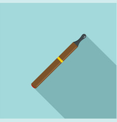 electric cigarette icon flat style vector image