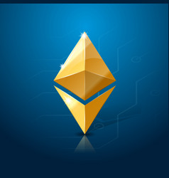 ethereum cryptocurrency logo system of electronic vector image