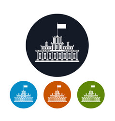 four types of round icons government house vector image