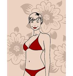 girl in a bikini vector image