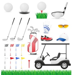 golf 15 vector image
