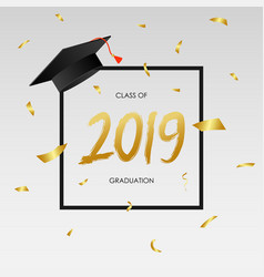 graduating class 2019 - template for card vector image