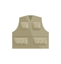 Hunting vest icon cartoon style vector image