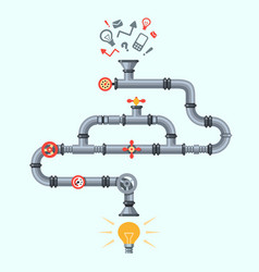 ideas generator idea generation machine industry vector image