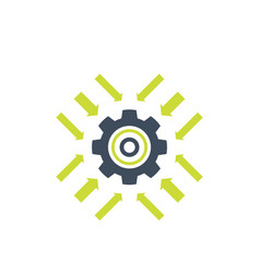 Integration system technology icon vector
