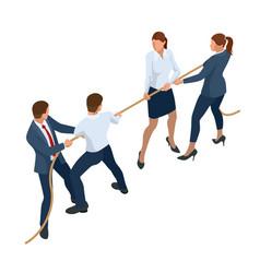 isometric businessmen and businesswomen in suit vector image