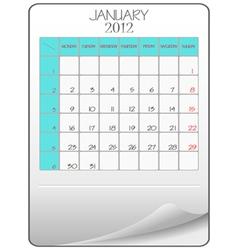 january 2012 vector image