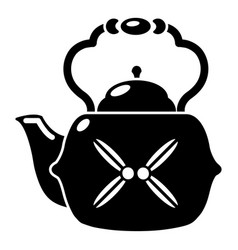 kettle vintage icon simple black style vector image