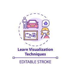 Learn visualization technique concept icon vector