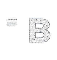 letter b low poly design alphabet abstract vector image