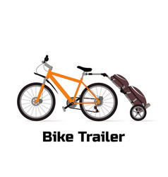 Logo bike trailer vector