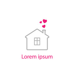 Love home logo vector
