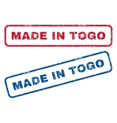 Made in togo rubber stamps vector