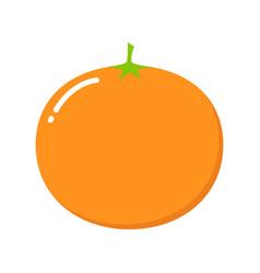 mandarin isolated on white cartoon style cute vector image