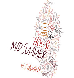 Midsummer house text background word cloud concept vector