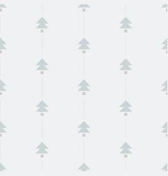 Minimal christmas tree seamless pattern vector