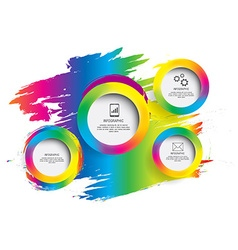 Modern circle colorful can be used for workflow vector