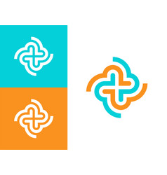 Modern professional icon cross in pharmacy vector