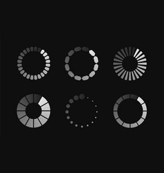 Modern set loading icon vector