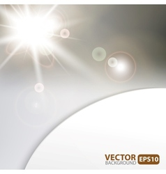 Monochrome background with sunburst flare vector