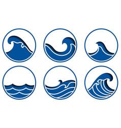 ocean wave icon vector image