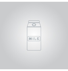 pack of milk icon vector image
