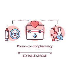 Pharmacy concept icon poison control pharmacology vector