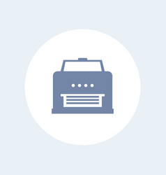 printer icon isolated on white vector image