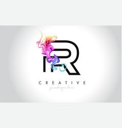 r vibrant creative leter logo design vector image