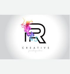 R vibrant creative leter logo design with vector