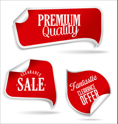 red tags collection vector image
