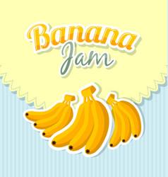 retro banana jam label vector image