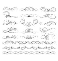 Set of Calligraphic lines vector