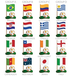 Soccer cup icons vector