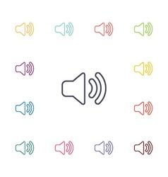 Sound flat icons set vector